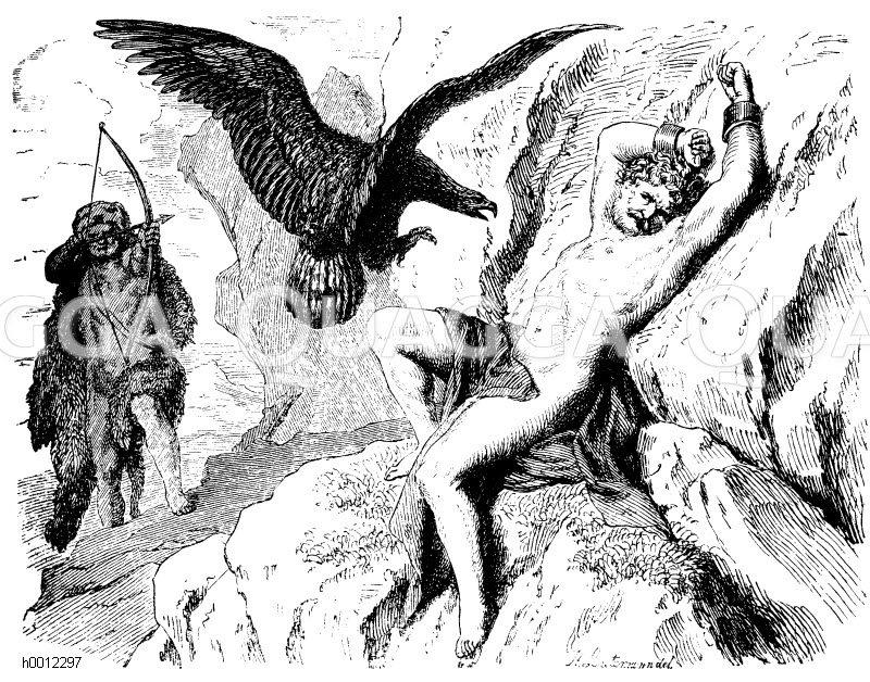 Herakles Befreit Den Prometheus Adler Quagga Illustrations