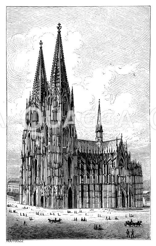 Kölner Dom (Deutschland, Grundsteinlegung 1248 und Schlußweihe 1880)