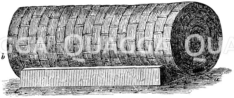 Bienenkorb aus Stroh, Walze a) Flugloch; b) hintere  ~ Geschirrspülmaschine Deckel Abnehmen