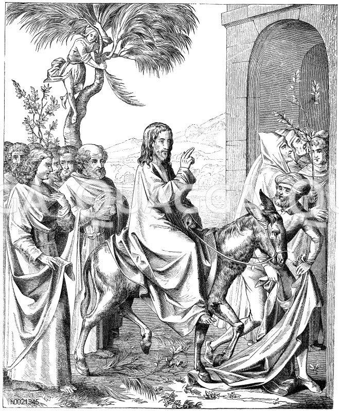 Jesu einzug in jerusalem bibel