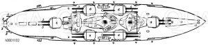 Dampfschiff: Aufsicht Zeichnung/Illustration