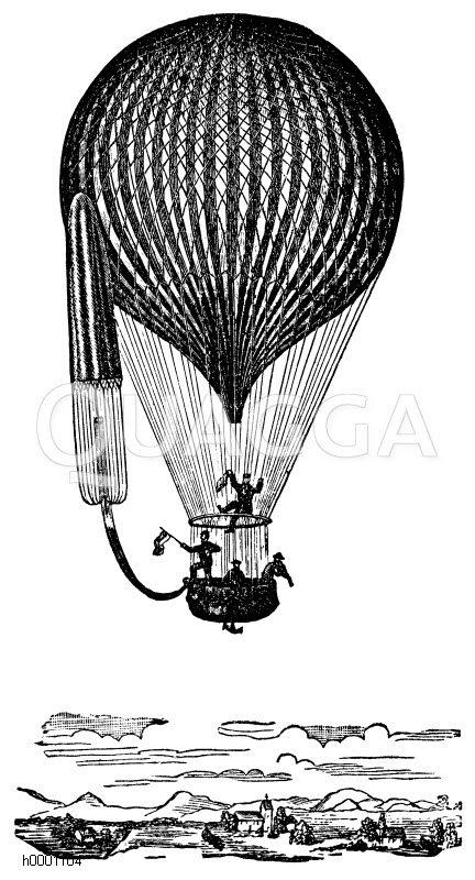 Heißluftballon Zeichnung/Illustration