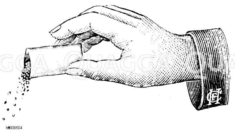 Säen aus der Tüte Zeichnung/Illustration