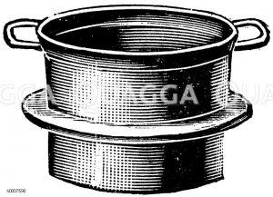Gemüsetopf mit Ring zum Einhängen Zeichnung/Illustration