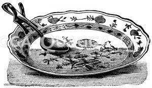 Metallhalter für Löffel und Gabel Zeichnung/Illustration