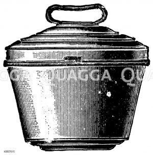 Glatte Puddingform mit Zapfen Zeichnung/Illustration