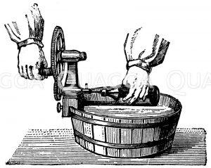 Flaschenreinigungsapparat Zeichnung/Illustration
