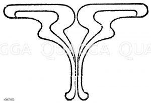 Ornament: Kapitelende Zeichnung/Illustration