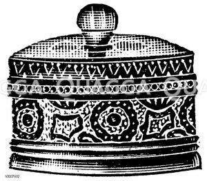 Marmeladenbüchse aus Steinzeug Zeichnung/Illustration