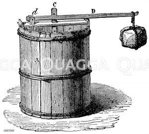 Sauerkrautpresse Zeichnung/Illustration