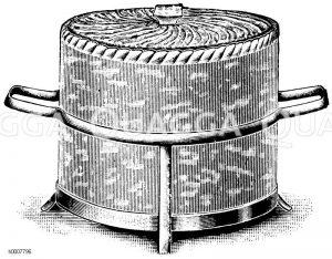 Pastetenform mit Deckel und Gestell Zeichnung/Illustration