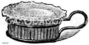 Pastetennäpfchen mit Halter Zeichnung/Illustration