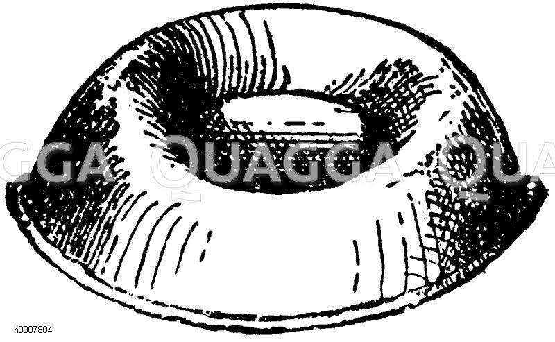 Ausgehöhlte Reispastete Zeichnung/Illustration