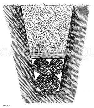 Dranierung mittels Faschinen Zeichnung/Illustration