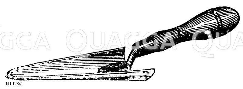 Handspaten zum Ausheben der Pflänzlinge Zeichnung/Illustration