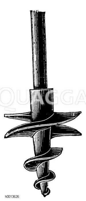Erdbohrer Zeichnung/Illustration