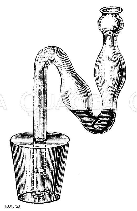 Gärspund mit Glasröhre Zeichnung/Illustration