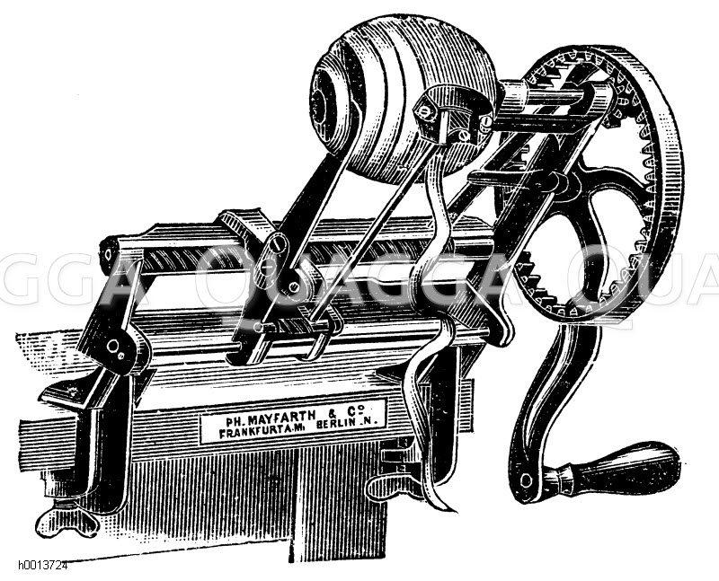 Schälmaschine für den Haushalt Zeichnung/Illustration