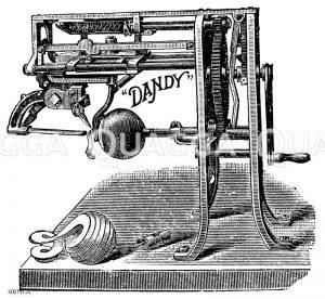 Schälmaschine für den Großbetrieb Zeichnung/Illustration
