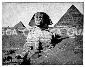 Pyramide und Sphinx Zeichnung/Illustration