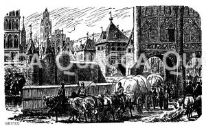 Burgtor in Lübeck Zeichnung/Illustration