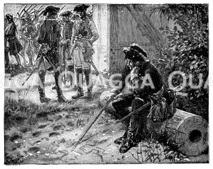 Friedrich der Große nach der Schlacht bei Kolin Zeichnung/Illustration