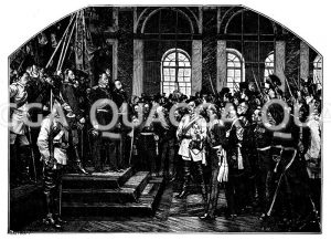 Kaiserproklamation zu Versailles. Gemälde von Anton von Werner. Mit Genehmigung der Photographischen Geellschaft zu Berlin Zeichnung/Illustration