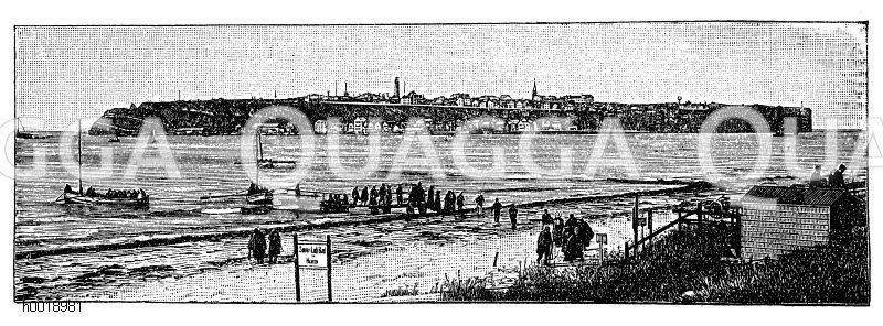 Helgoland. Nach einer Fotografie von F. Schensky in Helgoland Zeichnung/Illustration