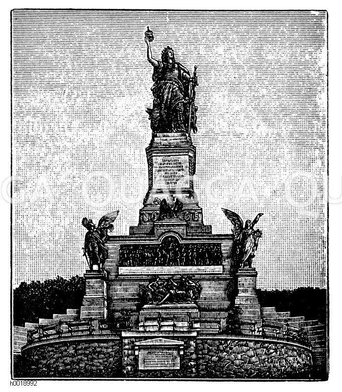 Nationaldenkmal auf dem Niederwald. Nach einer Fotografie der Neuen Photographischen Gesellschaft A.G.