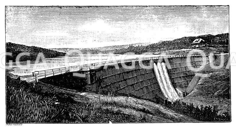 Glöhrtalsperre bei Dahlerbrück Zeichnung/Illustration