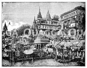 Benares. Nach einer Aufnahme der Photoglob Co. in Zürich Zeichnung/Illustration