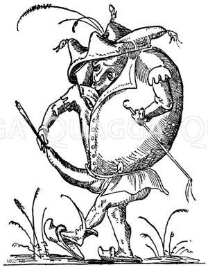 Phallische Karikatur zu den Werken von Rabelais. 16. Jahrhundert Zeichnung/Illustration