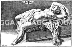Nachher. Französischer Kupferstich des 16. Jahrhunderts Zeichnung/Illustration