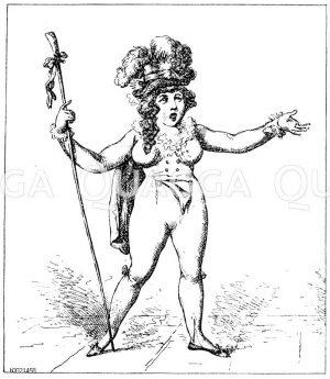 Die verliebte Schäferin. Englische Theaterkarikatur von G. Woodward