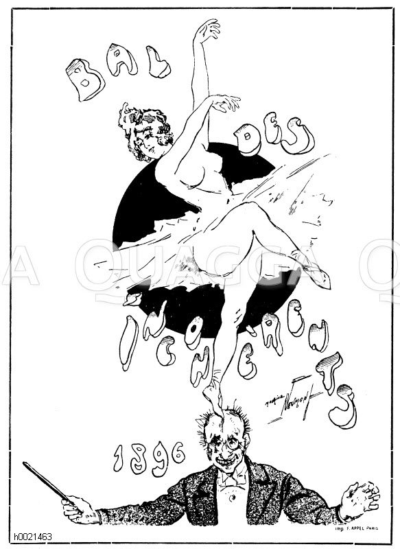 Einladungsplakat zum Ball des Incohérents. Von Maurice Neumont