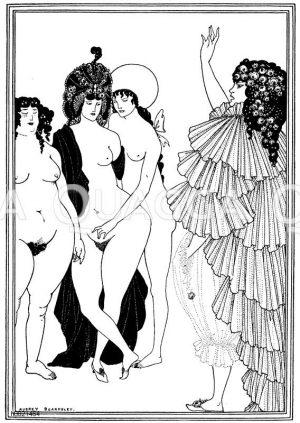 Zeichnung/Illustration zu Lysistrata von Aubrey Beardsley Zeichnung/Illustration