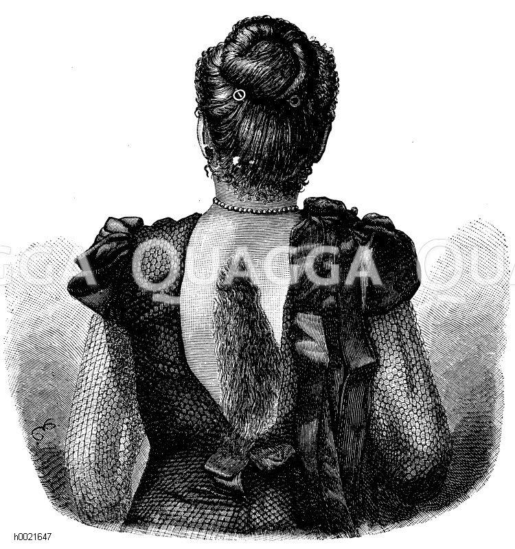 Dame mit Pferdemähne (nach Virchow) Zeichnung/Illustration
