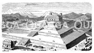 Pyramide von Cholula in Mexiko