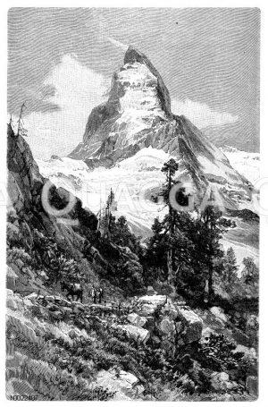 Matterhorn von Nordosten Zeichnung/Illustration