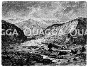 Bergsturz bei Elm (Glarus) vom 11. September 1881 Zeichnung/Illustration