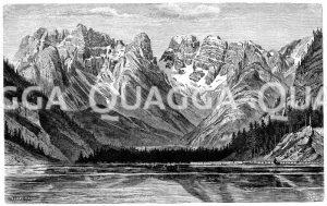 Monte Cristallo bei Schluderbach und Dürrensee Zeichnung/Illustration