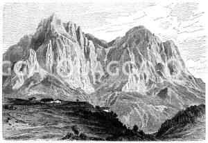 Schlern bei Bozen und Porphyrplateau Zeichnung/Illustration