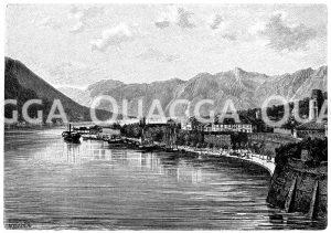 Steilküste bei Cattaro in Dalmatien Zeichnung/Illustration