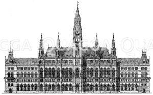 Neues Rathaus in Wien Zeichnung/Illustration