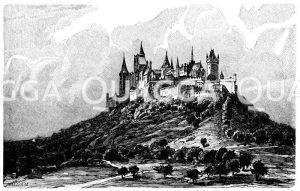 Burg Hohenzollern Zeichnung/Illustration