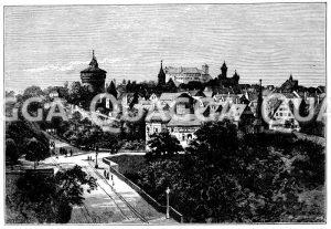 Neutorgraben in Nürnberg Zeichnung/Illustration