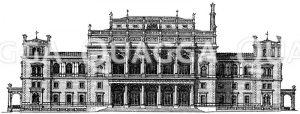 Neue Börse in Wien Zeichnung/Illustration