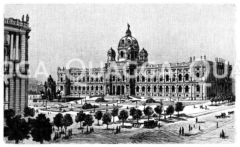 Naturhistorisches Museum in Wien Zeichnung/Illustration
