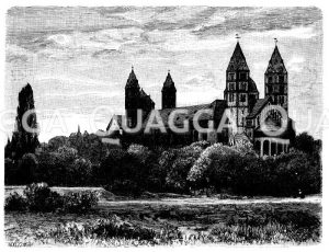 Dom zu Speyer Zeichnung/Illustration