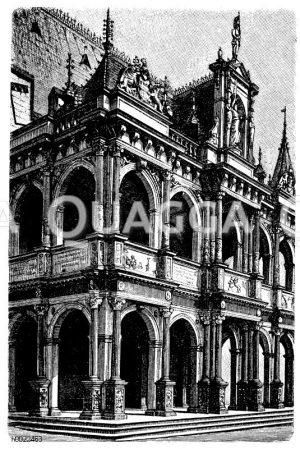 Vorhalle des Rathauses zu Köln Zeichnung/Illustration